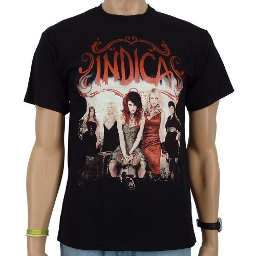 Indica - a Way T-shirt Away Band, Black, Uomo, INDICA - A WAY AWAY T-Shirt, nero, L