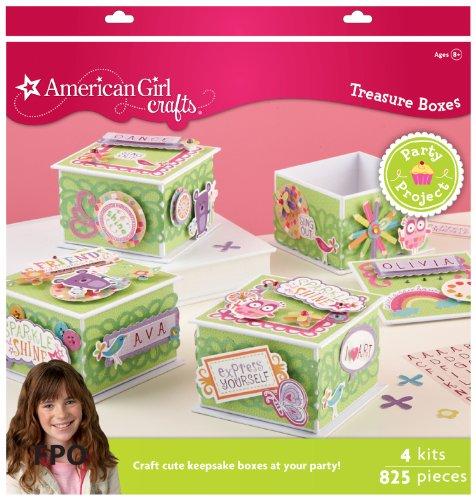 EK Success Brands American Girl Decorated Treasure Box Party Activity Kit