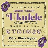 D'Addario J53/Black Nylon ウクレレ弦