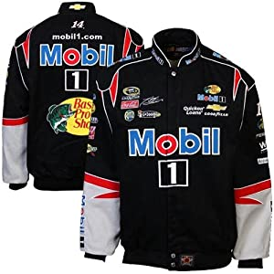 Tony Stewart Mobil 1 Mens Twill Nascar Jacket by JH Design by J.H. Design