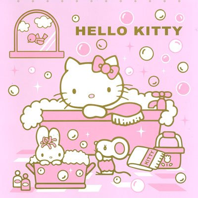Hello Kitty Shower Curtain: Bubble Bath (Pink)