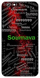 Soumava (Moon's Light) Name & Sign Printed All over customize & Personalized!! Protective back cover for your Smart Phone : Moto X-STYLE