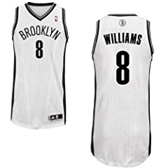 Deron Williams Brooklyn Nets #8 NBA Mens Authentic Home Jersey White by adidas