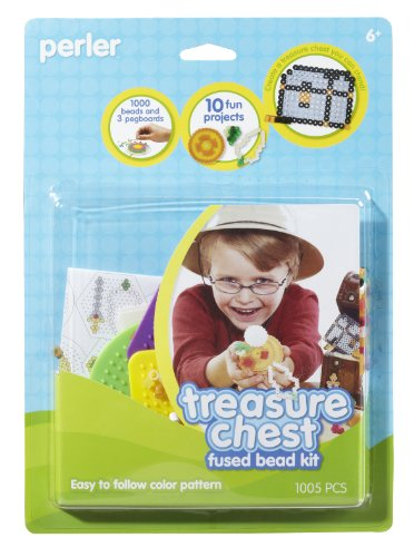 Perler Fused Bead Kit, Treasure Chest - 1