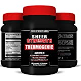 Thermogenic Fat Burner from Sheer Strength: Guaranteed Most Potent Thermogenic Fat Burner - *Shed Fat Or Your Money Back * - Cut Fat, Protect Muscle, Boost Energy, and Increase Focus Instantly - Dare To Compare Ingredients - 100% Money Back Guarantee from Sheer Strength