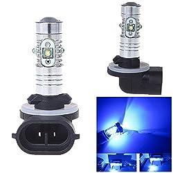 See 10Pcs H27 881 12V 25W Blue 5CREE Chip LEDs Car Fog Lamp Daytime Running Light Details
