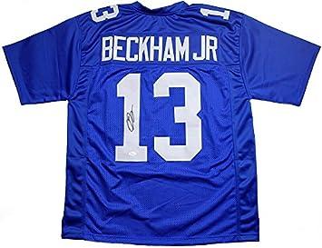 Odell Beckham Jr. Signed Autographed New York Giants Custom Blue ... mens  new york giants odell beckham jr nike royal blue game jersey 9b4695749