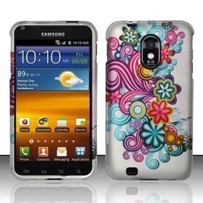 Samsung-Epic-4G-Touch-D710-Galaxy-S-II-Accessory-Rainbow-Conceptual-Flowers-Design-Protective-Hard-Case-Cover-for-Sprint