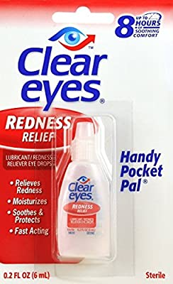 Clear Eyes Redness Relief Handy Pocket Pal, 0.2 Fluid Ounce