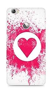 Amez designer printed 3d premium high quality back case cover for LeEco Letv Le 1S (splash paint heart)