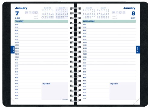 Brownline Daily Academic Planner, August 2012 - July 2013, Twin-Wire, 8 x 5-Inches, Assorted Colors, Color May Vary, 1 Planner (CA201.FASX)