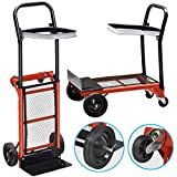 ZUMZ NEW 80KG MULTI PURPOSE HEAVY DUTY FOLDING DOLLY HAND SACK TRUCK BARROW CART GARDEN PLATFORM CARRIAGE TROLLEY MULTI-PURPOSE HORIZONTAL VERTICAL