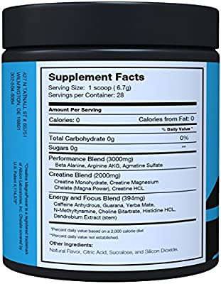 Pre Workout Decimus By Naturo Nitro, Best Fat Burner Preworkout Creatine Energy Drink with NO2, Amino Acids BCAA, Mental Focus Pre-Workout That Works for Men and Women, 28 Servings, Pink Lemonade