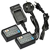 DSTE® 2pcs BP-1030 Rechargeable Li-ion Battery + Charger DC124U for Samsung BP1030, BP1130, ED-BP1030 and NX200, NX210, NX300, NX1000, NX1100, NX2000 Digital Cameras