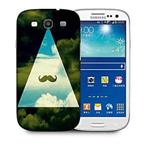 Snoogg Hipster Sky Mustache Designer Protective Back Case Cover For Samsung Galaxy S3