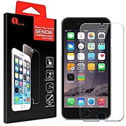 iPhone 6 Plus (5.5 ONLY) Screen Protector ,1byone Premium Tempered Glass Screen Protector for Apple iPhone 6 Plus, Crystal Clear - Industry-High 9H Hardness[12-month guarantee]