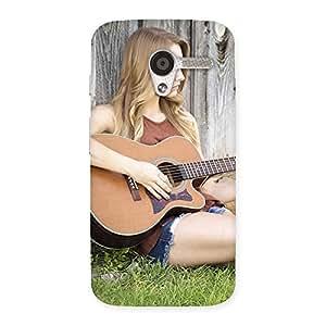Guitar Girl Back Case Cover for Moto X