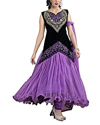 Jiya Women Net Dress(BTMDSZ908 ,Purple)