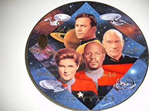 """Hamilton Collection 1997 Star Trek 30 Years """"Captain's Tribute"""" Plate by Todd Treadway"""