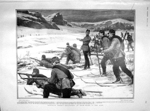 Pratica Austriaca della Pistola di 1902 delle Truppe Alpi delle Neve-Scarpe