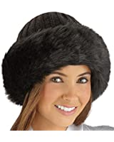 Collections Etc Faux Fur Trimmed Winter Fashion Hat