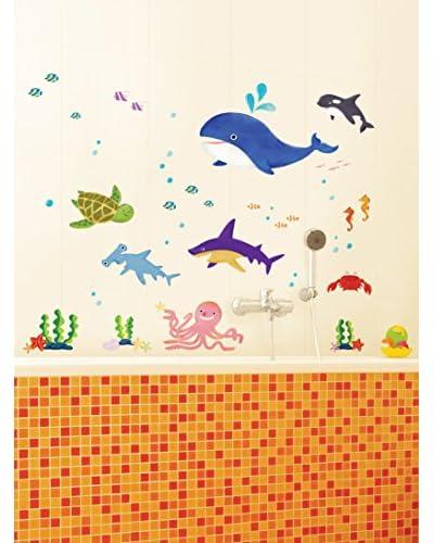 Ambiance Live Vinilo Decorativo Marine Animals Multicolor