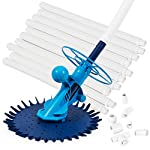 ARKSEN Automatic Inground Above Ground Suction Type Side Swimming Pool Cleaner Vacuum w/ Hose Set
