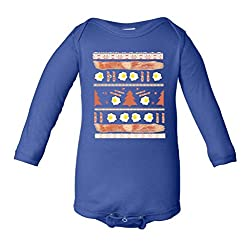 Ugly Bacon And Eggs Christmas Sweater Infant Long Sleeve Bodysuit