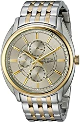 Armitron Men's 20/5038GYTT Multi-Function Dial Two-Tone Bracelet Watch
