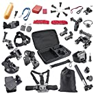 BAXIA TECHNOLOGY® GoPro Accessory Kit for GoPro HERO 4 Black GoPro HERO 4 Silver GoPro HERO 3+ GoPro HERO 3 GoPro HERO 2 and SJ4000 SJ5000 SJ6000 Sports Camera Accessory Kits Outdoor Sports Accessories Kit