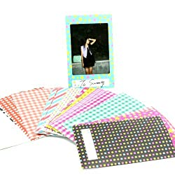 Caiul Nodartisan 20 Different Colorful Sticker Borders (20 Sheets) For Fuji Instax Mini Film (St-08)