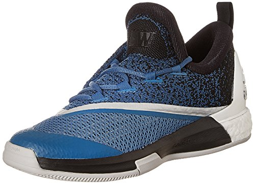 adidas Men's Crazylight Boost 2.5 Low Blue, Black and White Basketball Shoes - 6 UK  available at amazon for Rs.8399