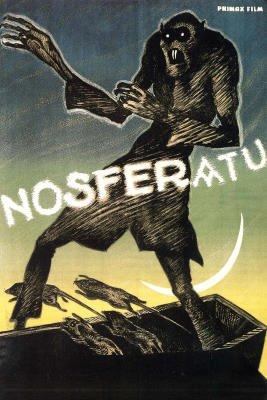 (24x36) Nosferatu Movie Max Schreck Gustav von Wangenheim 1922 Poster Print
