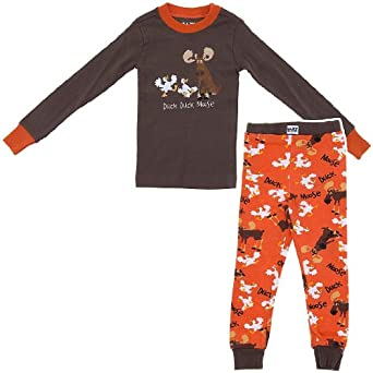 Lazy One Duck Duck Moose Cotton Pajamas for Boys 6