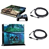 Vinyl PS4 Console + Controller Decal Skin Sticker Far Cry 3 with 5M Charge Data USB Cable
