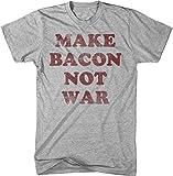 Make Bacon Not War T Shirt funny Bacon shirt I love bacon tee M