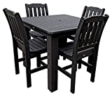 5-Pc Square Dining Set in Black
