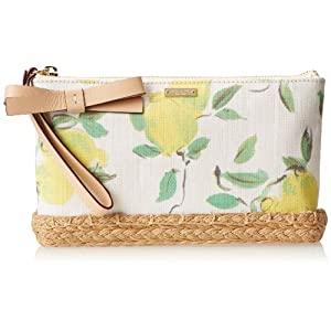 kate spade new york Capri Espadrille Lila Wristlet Pouch Coin Purse,Painterly Lemons,One Size
