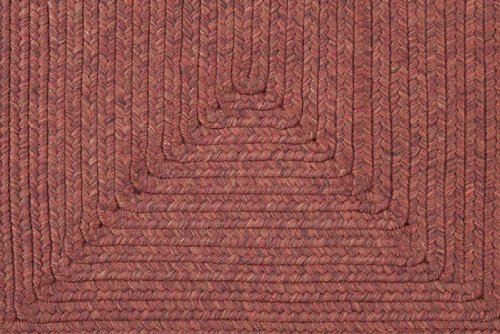 3' x 5' Intertwisted Plait Ettuscan Red and Brunette Brown Braided Outdoor Area Throw Rug