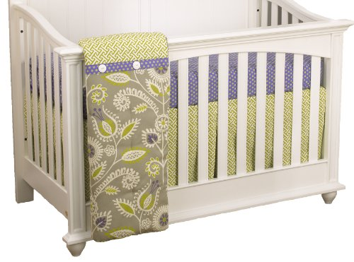 Cotton Tale Designs 3 Piece Crib Bedding Set, Periwinkle
