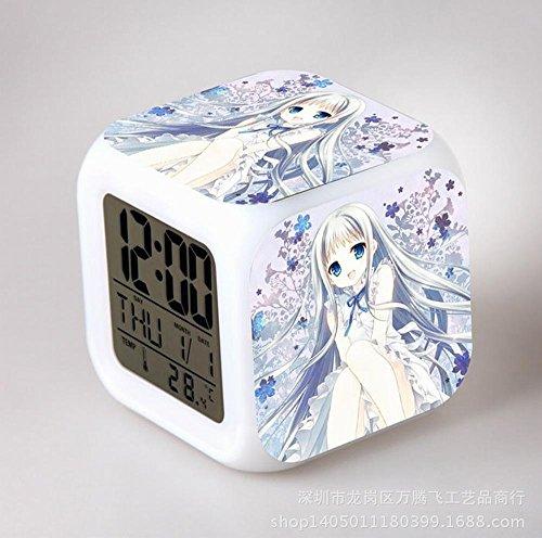 GUOHUA®Anohana Anime Cartoon création réveil coloré pour enfants réveil réveil numérique horloge analogique horloge lumineuse , # 2