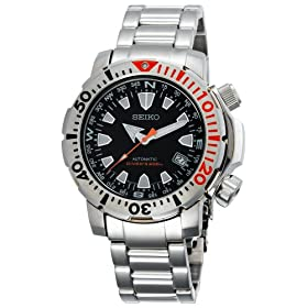 Seiko Men's Automatic Dive Silver-Tone Watch #SNM035