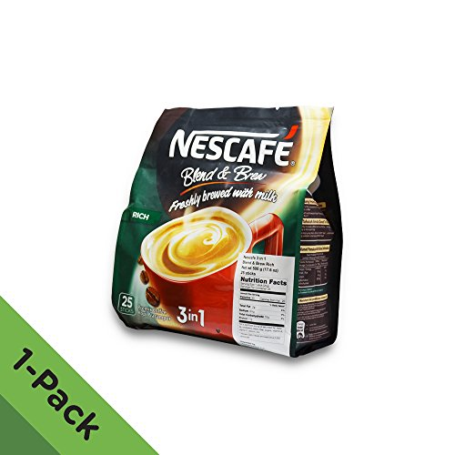 Nescafé 3 in 1 RICH Instant Coffee (25 Sticks) ★ Made from Premium Quality Beans ★ Offers a Relaxing Flavor But with Strong, Solid Essence and Aroma ★ Has a Richer Taste than Nescafé 3 in 1 Original ★ Serve Hot or Cold ★ From Nestlé Malaysia (Low Acid Instant Decaf Coffee compare prices)