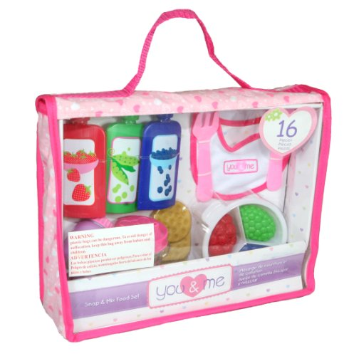 You & Me Baby Care 16 Piece Snap and Mix Food Set