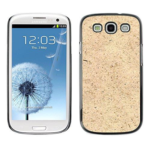Carcasa Funda Prima Delgada SLIM Casa Case Bandera Cover Shell para // M00150666 Farina d'avena Elemento Texture // Samsung Galaxy S3 S III SIII i9300