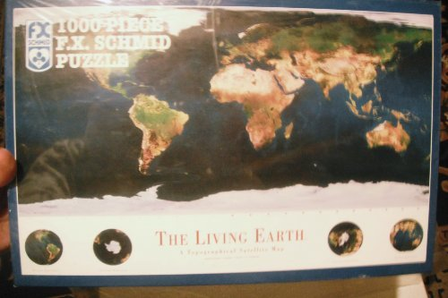 THE LIVING EARTH. A topographical satellite map- PUZZLE 1000 PIECE - 1