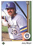 1989 Upper Deck # 403 Joey Meyer Milwaukee Brewers Baseball Card