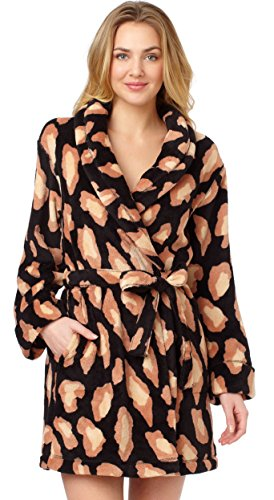 gorgeous-dkny-leopard-print-long-sleeve-bath-robe-dressing-gown-black-small