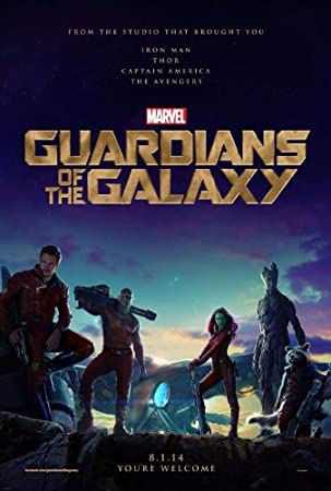 GUARDIANS OF THE GALAXY - Movie Poster - Double-Sided - 27x40 - Original - ADVANCE - BRADLEY COOPER - CHRIS PRATT - KAREN GILLAN - VIN DIESEL - ZOE SALDANA