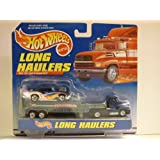 Hot Wheels - LONG HAULERS - Over the road transporter! - Tractor / Trailer and Hot Wheels 1950s CHEVY CAR Included